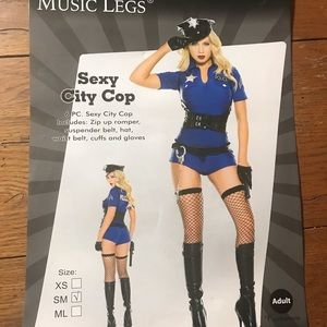Music Legs Sexy City Cop Costume
